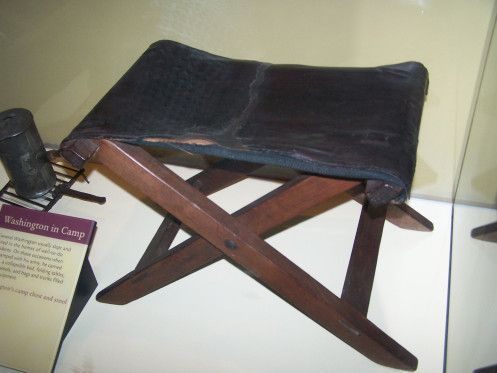 Swell George Washingtons Personal Camp Stool That He Used During Ibusinesslaw Wood Chair Design Ideas Ibusinesslaworg